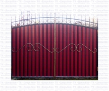 ворота профлист узор